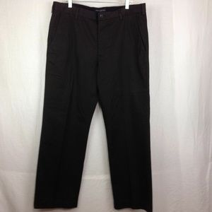 BANANA REPUBLIC 33X32 DARK BROWN DRESS PANTS